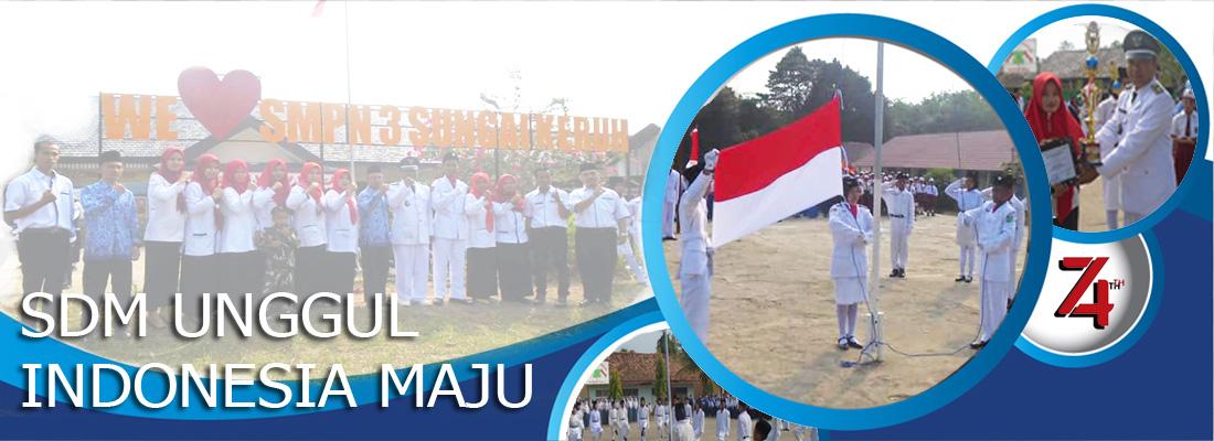 Kegiatan Upacara 17 Agustus 2019 ke- 74 di SMPN 3 Sungai Keruh