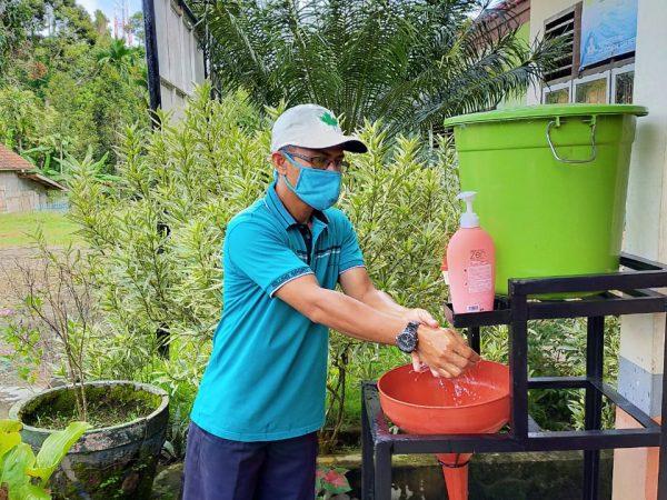 Cegah Corona : Sekolah Pasang 8 Set Tempat Cuci Tangan