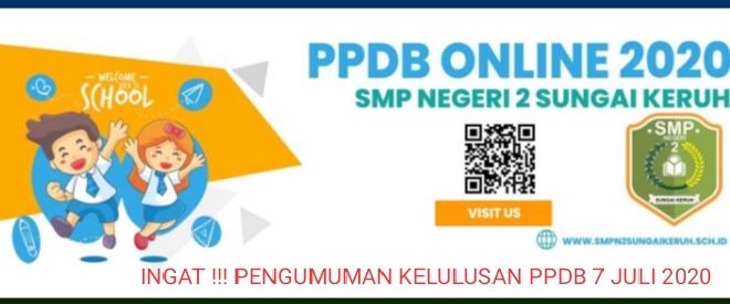 Pengumuman kelulusan PPDB SMPN 2 SUNGAI KERUH